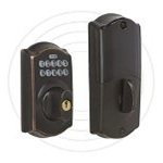 Schlage BE369-716 - Z-Wave Deadbolt Lock - Aged Bronze