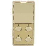 Simply Automated ZS25O-I Ivory 1 Rocker and 4 Oval Button Faceplate