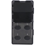Simply Automated ZS25O-BK Black 1 Rocker and 4 Oval Button Faceplate