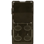 Simply Automated ZS25O-BN Brown 1 Rocker and 4 Oval Button Faceplate
