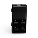 Simply Automated ZS25B-BK Black 1 Rocker and 4 Thin Bar Button Faceplate