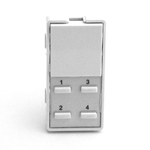 Simply Automated ZS25B-W White 1 Rocker and 4 Thin Bar Button Faceplate
