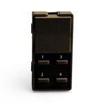 Simply Automated ZS25B-BN Brown 1 Rocker and 4 Thin Bar Button Faceplate