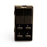 Simply Automated ZS26B-BN Brown 2 Rocker and 4 Thin Bar Button Faceplate