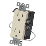 Simply Automated URD-30-A Almond Wall Receptacle - Wire In 12A