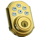 99100-004 - Motorized Deadbolt - Polished Brass