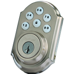 99100-005 - Motorized Deadbolt - Satin Nickel