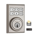 99100-011 - Contemporary Style Motorized Deadbolt - Satin Nickel