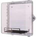 STI-7531AED AED Protective Cabinet, Polycarbonate with Backplate, Wire Shelf and Thumb Lock - Clear