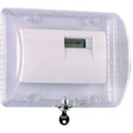 STI-9110 Thermostat Protector with Key Lock - Clear