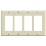 80412-T 4-Gang Decora-Style Light Almond Trim Plate