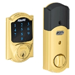 BE469CAM505 - Z-Wave Motorized Touchscreen Deadbolt-Bright Brass