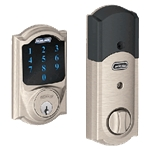 BE469CAM619 - Z-Wave Motorized Touchscreen Deadbolt-Satin Nickel