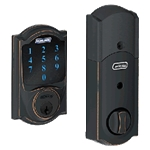 BE469CAM716 - Z-Wave Motorized Touchscreen Deadbolt-Aged Bronze