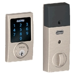 BE469CEN619 - Z-Wave Motorized Touchscreen Deadbolt-Satin Nickel
