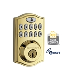 99140-001- 914 Motorized Deadbolt w/Home Connect - Polished Brass