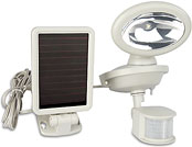 Solar Motion-Activated Halogen Security Floodlight