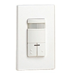 Leviton ODS0D-IDW Dual-Relay Decora Wall Switch Passive Infrared (PIR) Occupancy Sensor - White