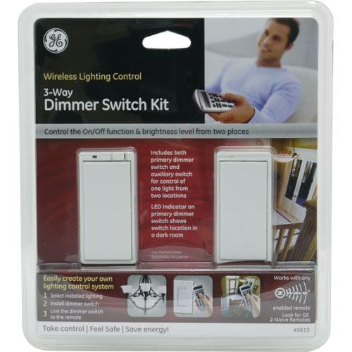 GE 45613 ZWave Wireless Lighting Control ThreeWay Dimmer Kit