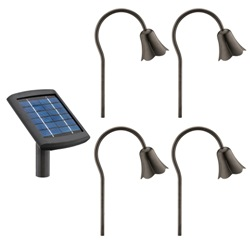 Malibu Lz280rp4 4 Pack Metal Tulip Light Set With Remote Panel