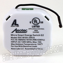 Aeotec DSC18103-ZWUS Z-Wave Micro Smart Energy Switch