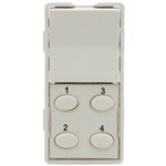 Simply Automated ZS25O-W White 1 Rocker and 4 Oval Button Faceplate