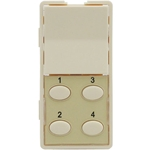 Simply Automated ZS25O-A Almond 1 Rocker and 4 Oval Button Faceplate