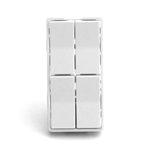 Simply Automated ZS24-W White Quad Rocker Half Height Faceplate
