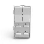 Simply Automated ZS26B-W White 2 Rocker and 4 Thin Bar Button Faceplate