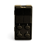 Simply Automated ZS26O-BN Brown 2 Rocker and 4 Oval Button Faceplate