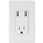T-5630-W USB Charger/Tamper-Resistant Receptacle