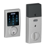 BE469CEN625 - Z-Wave Motorized Touchscreen Deadbolt-Bright Chrome