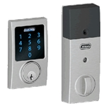 BE469CEN626 - Z-Wave Motorized Touchscreen Deadbolt-Satin Chrome