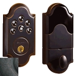 8252402AC3 - Boulder Motorized Deadbolt w/Home Connect - Distressed Oil Rubbed Bronze