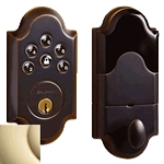 8252003AC3 - Boulder Motorized Deadbolt w/Home Connect - Polished Brass