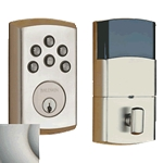 8285056AC3 - SOHO Motorized Deadbolt w/Home Connect - Lifetime Satin Nickel