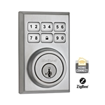 99100-020 - ZigBee Contemporary Style Motorized Deadbolt w/Home Connect - Polished Chrome